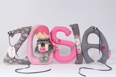 Szyte literki Cute letters Baby Car Seats, Children, Kids, Baby Shoes, Baby Blankets, Sewing, Cute, Book, Accessories