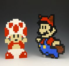 Lego Toad and Mario Raccoon Power up by BrickBum Lego Mario, Super Mario Brothers, Super Mario Bros, Legos, Lego Videos, Video Game Rooms, Lego Projects, Lego Instructions, Lego Building