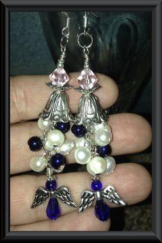HEAVENLY ANGEL Beaded Cascade EarringsPink by TwinklingOfAnEye, $19.95