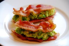 Paleo Bacon & Guacamole sammies For more great recipes check out my Facebook page called Gluten Free Simplified. All Paleo!