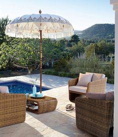 grillen auf dem balkon lounge möbel aus rattan | gartengestaltung, Garten und Bauen