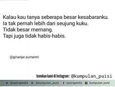 Puisi pendek. Sajak. Kumpulan puisi. Puisi by Ginanjar Sumantri.