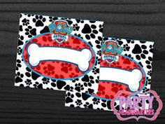 INSTANT DOWNLOAD  Paw Patrol  Food labels  by PartyHeadquarters