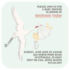 Steelheart 5x5 Baby Shower Invitation