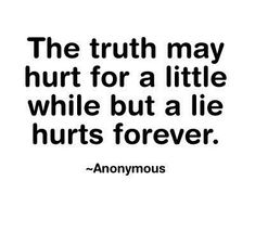 Just don't lie