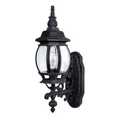 French Country 1-Light Wall Mount Outdoor Fixture by Capital. Our exterior porch deck garage and post light.