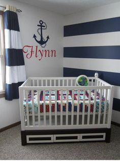 Nautical Nursery name and anchor decal!