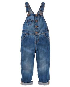 Toddler Girl Heart Pocket Overalls - Fashion Medium Wash from OshKosh B'gosh. Shop clothing & accessories from a trusted name in kids, toddlers, and baby clothes.