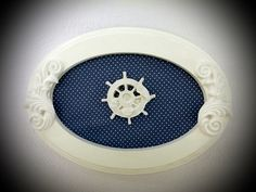 Quadro Oval Decorativo - Navy