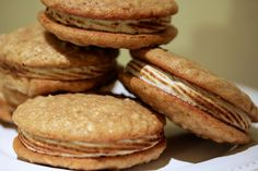 Baked Sunday Mornings: Brown Sugar Oatmeal Whoopie Pies with Maple Marshmallow Filling