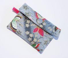 porte cartes tissu japonais motifs papillons petit format grande capacité