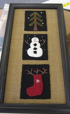 I love this, especially on the burlap. I made a few of these for Christmas presents a few years ago.