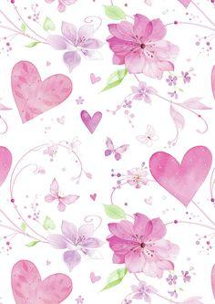 corazones y flores