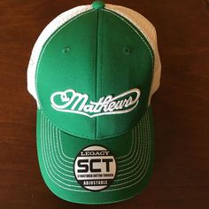 Mathews Legacy Green SCT (structured cotton Trucker) Adjustable #Mathews #StructuredCottonTrucker