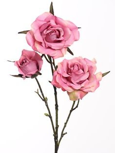 Artificial pink rose  from Country Baskets