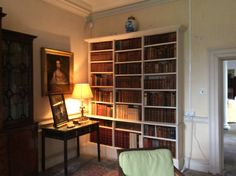 Books on their shelves at West Horsley Place, December 2015 Trinity Library, Bookcase, December, Shelves, Places, Home Decor, Shelving, Decoration Home, Room Decor