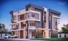 come and design your villa or building or hotel or interior decor or exterior design with us we have fantastic architectural designs and plans and we will make your dream We are professional in our work and our prices are very competitive House Structure Design, House Main Gates Design, 3 Storey House Design, Bungalow House Design, House Front Design, Modern House Facades, Modern Buildings, Modern Architecture, Residential Building Design