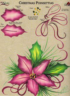 Christmas Poinsettias RTG Worksheet 4 Binder Donna Dewberry   eBay