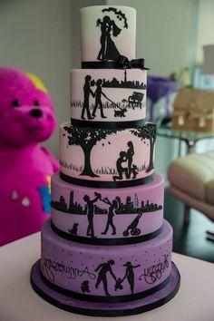 Gâteau d'anniversaire original romantique