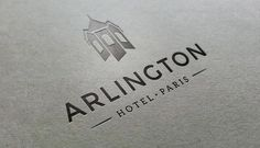 Visual Identity, Logo and Branding Work Hotel Logo, Hotel Branding, Arlington Hotel, Visual Identity, Cards Against Humanity, Logos, Modern, Trendy Tree, Corporate Design