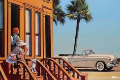 Marabout, TA. Vacances en Buick Roadmaster , Lithographie