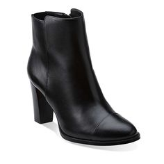 SALE Ladies Clarks Lisette Blues Black Or Dark Tan Leather Ankle Boots D Fitting
