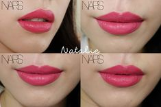 NARS Audacious Lipstick | Natalie---the bightest pinky-coral/peach i would ever wear in the future