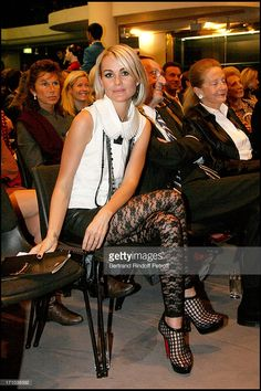 Laeticia Hallyday at The Auction Of Frimousses De Createurs In Aid Of UNICEF At L' Hotel Des... Christian Audigier, Meghan Markle, Front Row, The Row, Photos, Hair Cuts, Auction, Idole, Punk