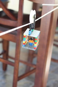 LEGO Zip Line Activity for Kids Science