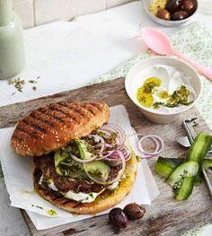Rezept: Griechischer Burger