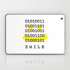 Binary Code Smile Laptop & iPad Skin