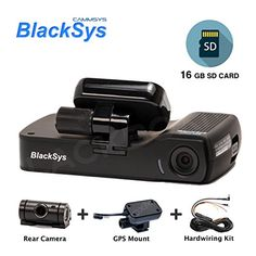 BlackSys CH100B 2 Channel 1080P FULL HD Front and Rear Pro Wide Angle Dashboard Recorder  Dash Cam With GSensor  Up to 128gb Memory  Car Parking Mode  Wifi App * Want additional info? Click on the image.