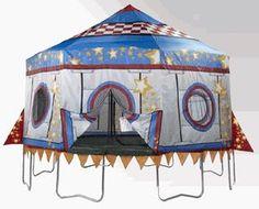 15' Jump King Rocket Trampoline Tent   MonsterMarketplace.com