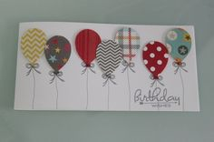 Birthday – Birthday card with balloons – a unique product by Art-Card on DaWanda - New Deko Sites Ideas Scrapbook, Scrapbook Cards, Handmade Birthday Cards, Happy Birthday Cards, Card Birthday, Balloon Birthday, Birthday Scrapbook, Diy Birthday, Birthday Wishes