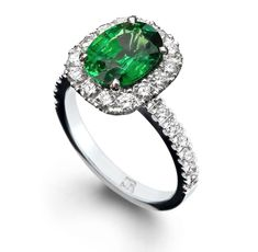 Oval emerald and brilliant diamonds in 18 carat white gold, fully handmade. We are coloured gem and diamond specialists, Australia's Finest, since Dress Rings, Brilliant Diamond, Jewelry Stores, Emerald, Gemstone Rings, Diamonds, Jewelry Design, White Gold, Engagement Rings