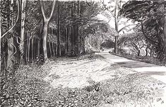 Hockney: Kilham to Rudston. The charcoal drawings in A Bigger Picture are stunning.