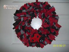12 Ladybug Cloth Wreath by WreathClothsbyDee on Etsy, $15.00