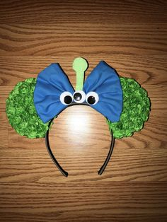 Your place to buy and sell all things handmade Mickey Mouse Ears, Disney Ears, Alien Ears, Toy Story Alien, Disney Diy, Green Flowers, Toys, Unique Jewelry, Costumes
