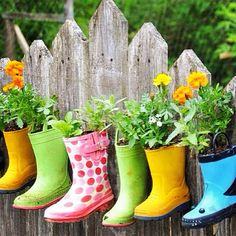 Creative boots for garden decoration