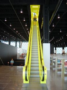 Escalators At Seattle Public Library
