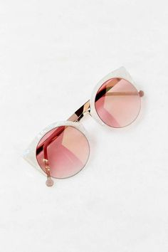 white & pink cat-eye sunglasses - urban outfitters WANT…