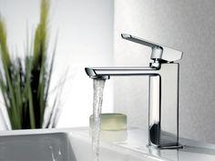 Minimalist and stylish the Visage basin mixer tap from Mixx. Mixx Tapware, Bathrooms, Rennovations, Taps, Interior design.