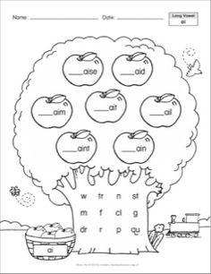 ai, ay: Phonics Trees (Long Vowels)