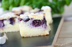 Cheesecake – Schnitten mit Heidelbeeren