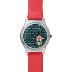 Santa owl wristwatch.