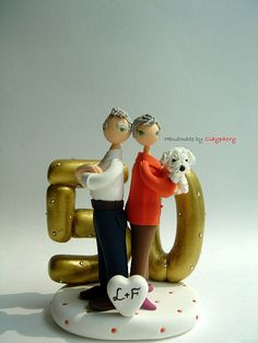50th Wedding Anniversary customized cake topper