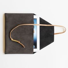 Aylen iPad (two tone) | Shannon South | leather handbags made in the usa using new remnant, reclaimed and vintage recycled leather