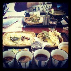 Noodles with tempura