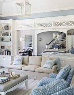Rye Beach Shingle Style Family Room Shingle Style Modern TraditionalNeoclassical by Douglas VanderHorn Architects