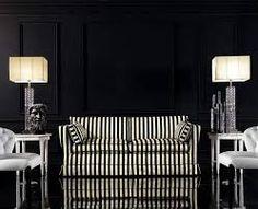 komplet wypoczynkowy stylowy z drewnem - pasy biało czarne
